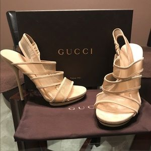 Gucci Open Toe Heels
